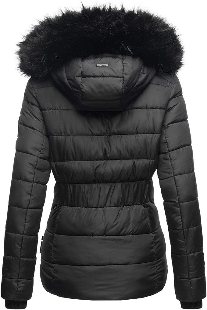 Navahoo warme Damen Winter Jacke Parka Mantel Stepp Kurzjacke gef/üttert B832