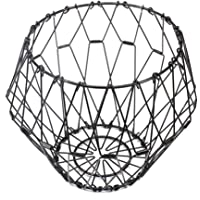 Jion Ware Flexible Black Wire Basket Transforming For Fruit Bread or Decorative Items