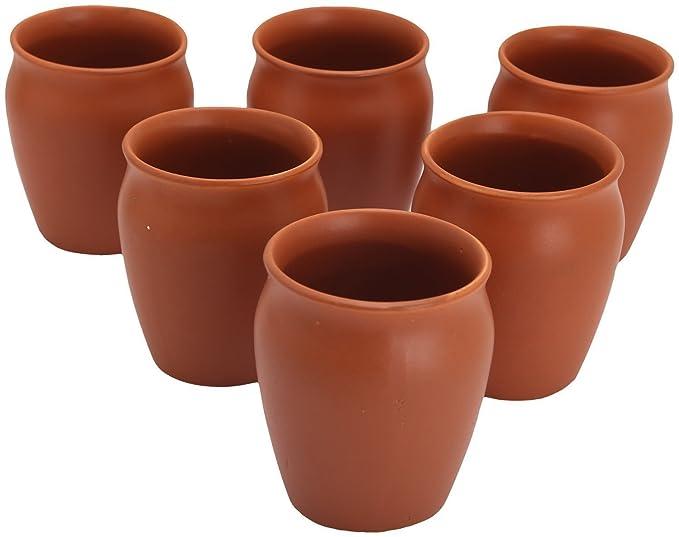 Organic Clay Crafts Clay Kulhad Tea Cups-Set of 6