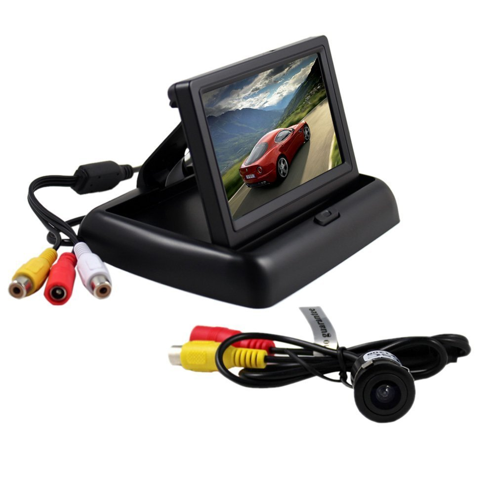 BW® 4.3 Inch Folding TFT LCD Rearview Color Camera Monitor And Car Rear View Camera
