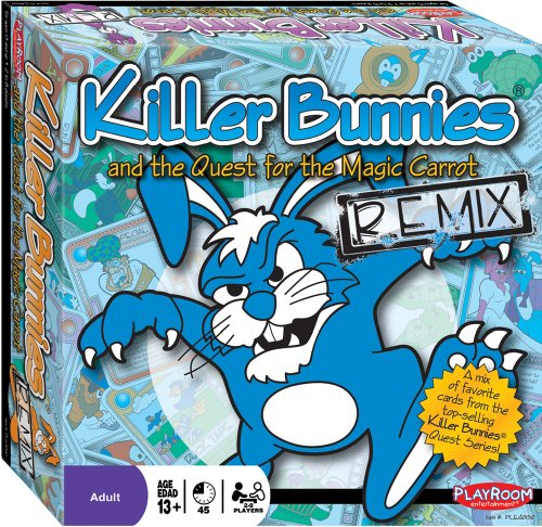 Killer Bunnies Red Booster Deck (Killer Bunnies and the Quest for the Magic Carrot - Remix Edition - Over 300+ Handpicked Cards From All Sets)