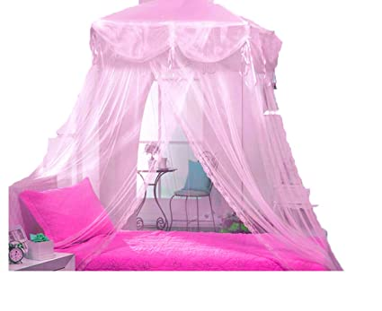 Image Unavailable  sc 1 st  Amazon.com & Amazon.com: Pink Four Corner Square Princess Bed Canopy By Sid by ...