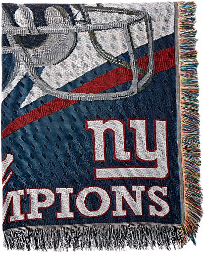 Officially Licensed NFL New York Giants Commemorative Woven Tapestry Throw Blanket, 48
