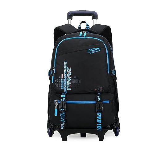 b83a36b714d2 YUB Children School Bag Backpack 1 - 6 Grade Kids Bags Trolley Bag Six  Wheels Black