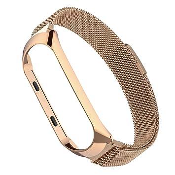 Simpeak Correa Compatible Xiaomi Mi Band 3 (5.5-6.7 Pulgadas), Pulseras de Acero Inoxidable Wristband Repuesto Bandas Xiaomi Mi Band 3 Fitness con ...