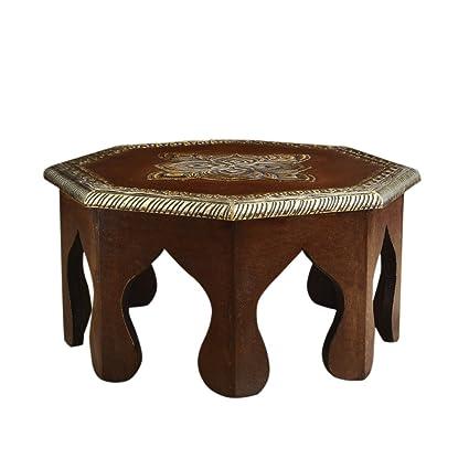 Rusticity Wooden Altar Table/Small Stool/Pooja Chowki/Plant Table |  Handmade |