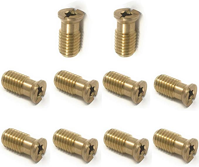 10 Pack Brass Anchors for Concrete Deck For Swimming Pool Cover
