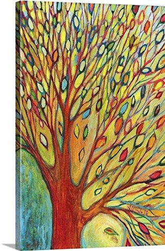 Jennifer Lommers -Canvas Wall Art Print entitled Rainbow Tree In Autumn