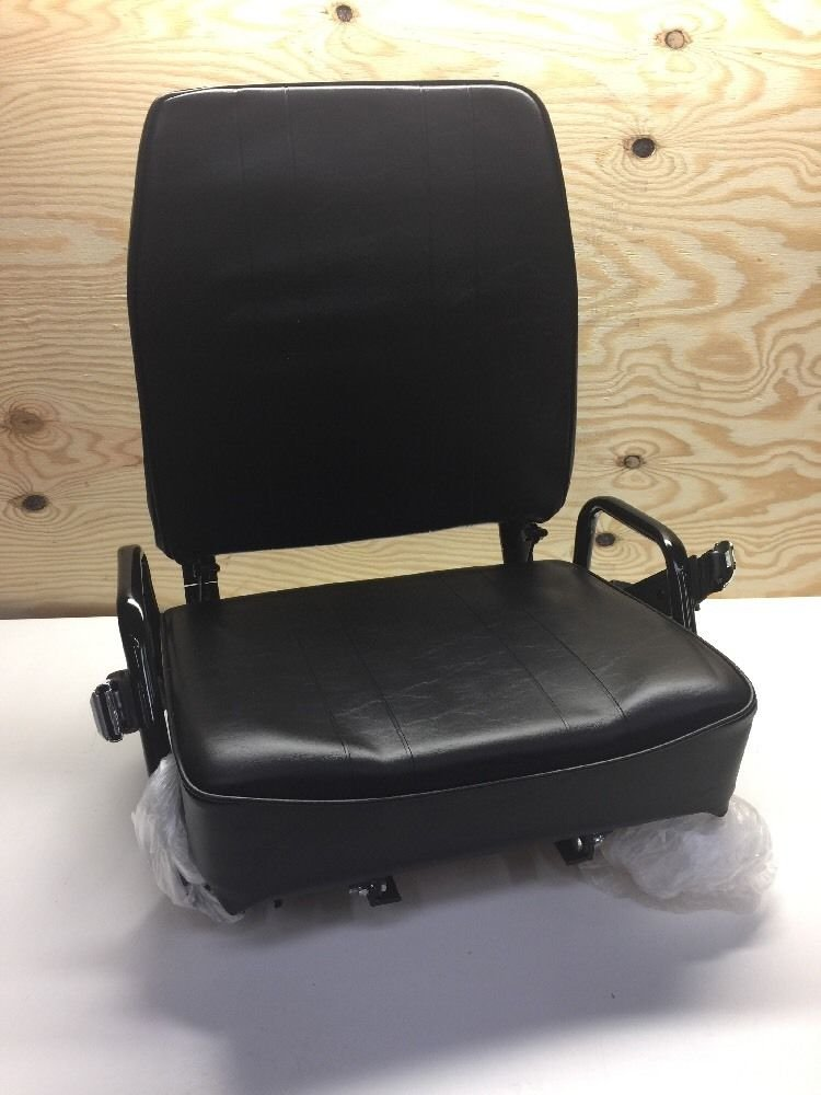 Universal Crane Seat Assembly W/ Seatbelt & Buckle 1300 Black Ultimate 7.5 Ton