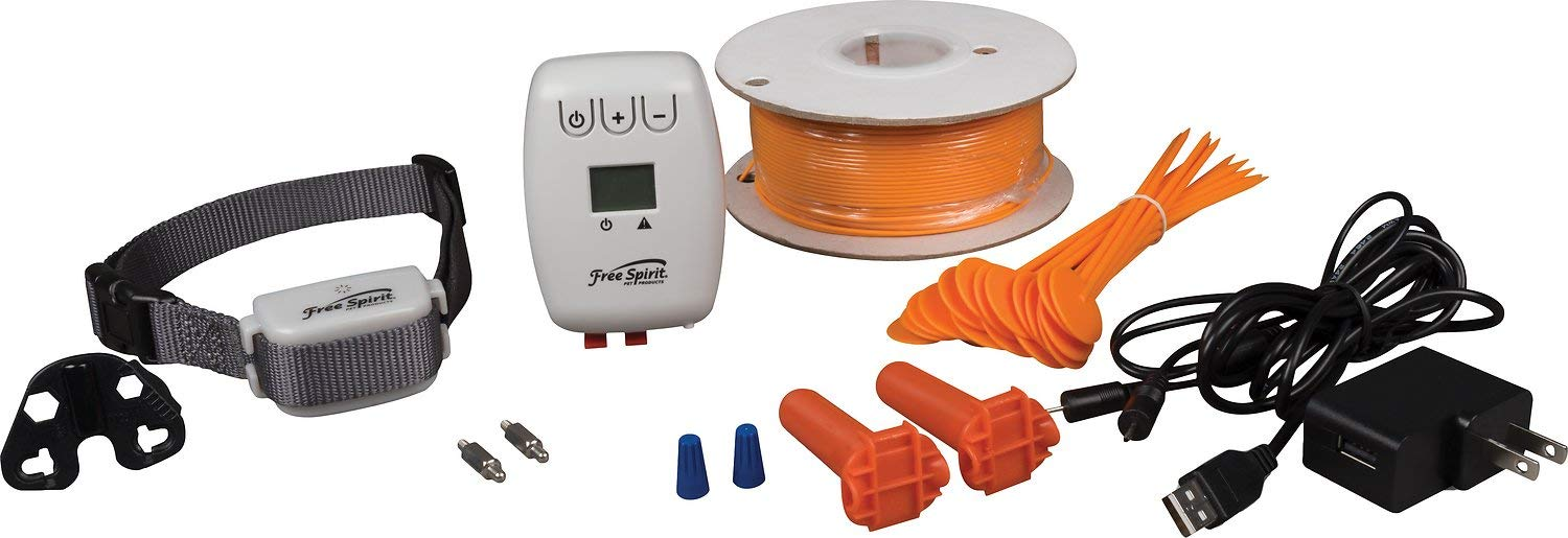 Free Spirit In-Ground Fence - Underground Wire Containment System - Waterproof, Rechargeable Collar - Tone/Vibrate and Shock