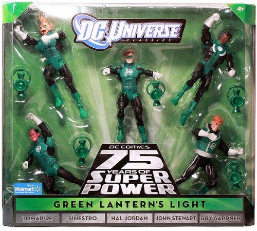 DC Universe Classics Exclusive Green Lanterns Light Action Figure 5Pack Tomar Re, Sinestro, Hal Jordan, John Stewart Guy -