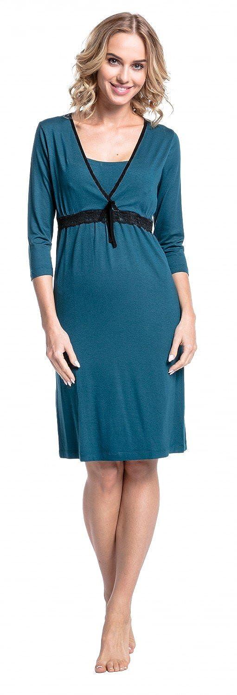 HAPPY MAMA 255p Para Mujer Camis�n Premam� Embarazo Lactancia Escote de Pico