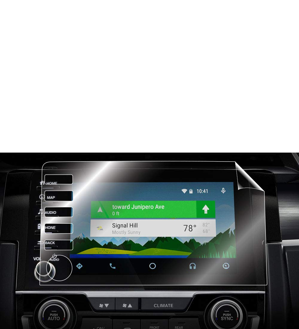 Smooth//Self-Healing//Bubble -Free Navigation System Radios Screen Protector Invisible Ultra HD Clear Film Anti Scratch Guard 5 Button Version IPG for Honda Civic 2019-2020 Audio Touchscreen