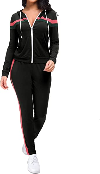 Selowin Women Casual Velvet Fleece Hoodie Sweatshirt Shorts 2 Pieces Tracksuits Sets