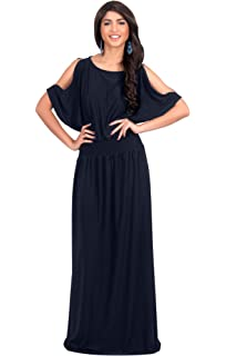 5f5d8f7d87b KOH KOH Womens Split Sleeves Smocked Elegant Cocktail Long Maxi Dress