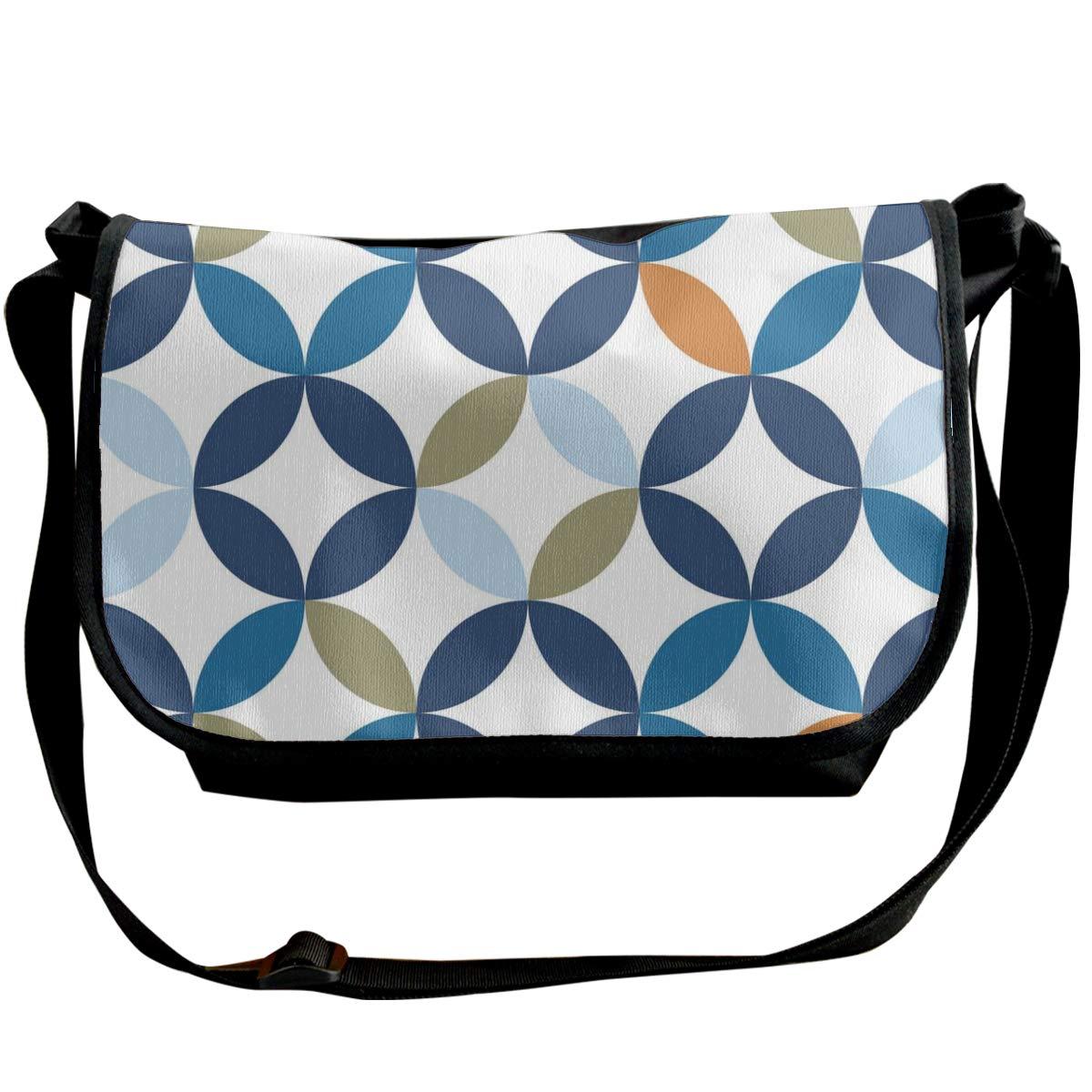 Taslilye Vintage Seamless Pattern Vector Image Customized Wide Crossbody Shoulder Bag For Men And Women For Daily Work Or Travel