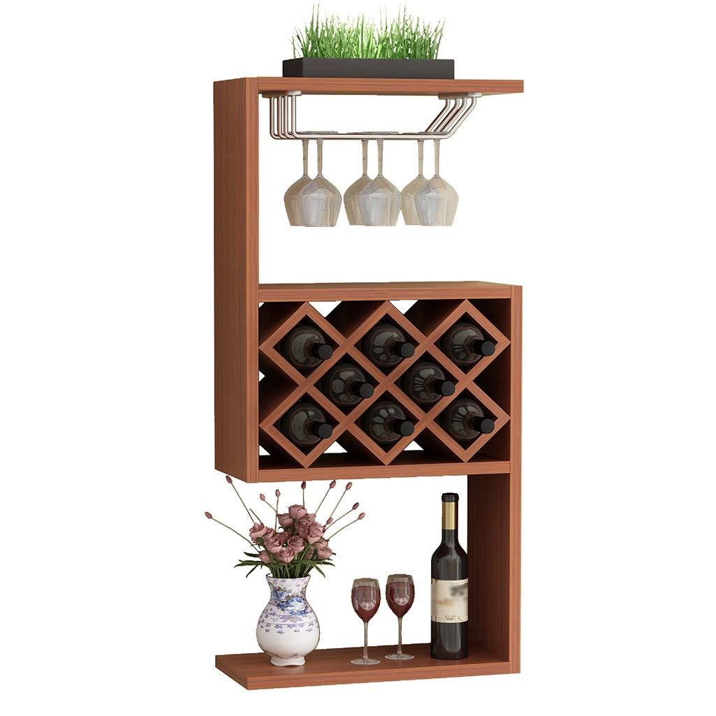 LXJYMXSoporte de exhibició n del Estante del almace Cabina de Vino de Madera montada en la Pared, Estante del Vino casero Moderno Simple de la Pared del Restaurante