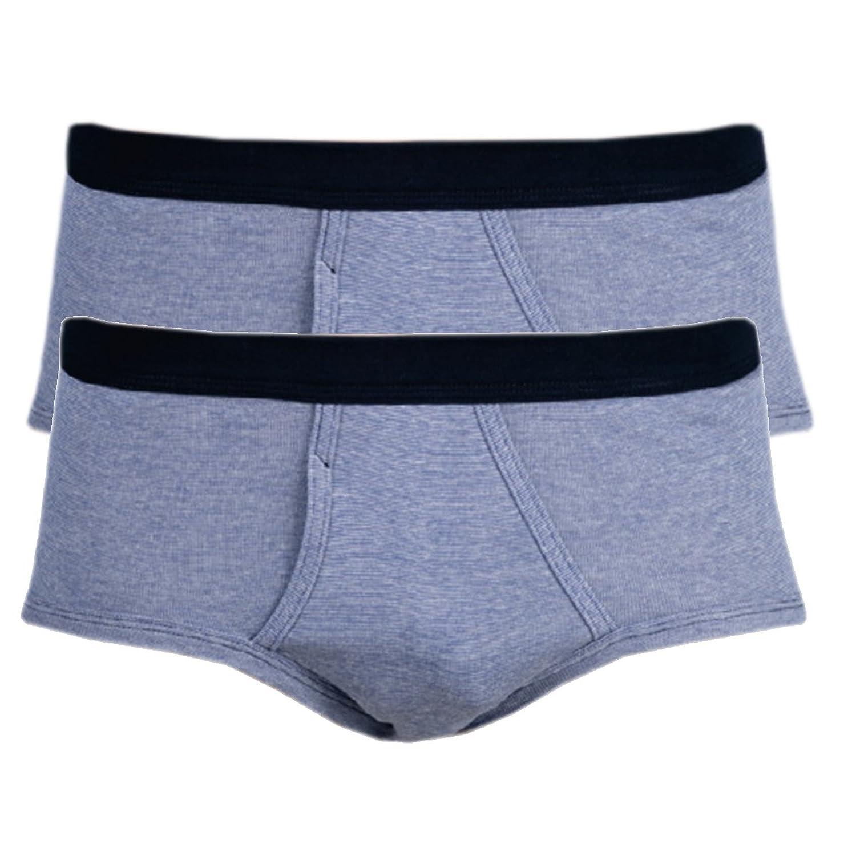 Ott-tricot Herrenslip 2-er Pack mit Eingriff 100% gek.Baumwolle Jeansfarbe Gr. M-XXXL Unterhose