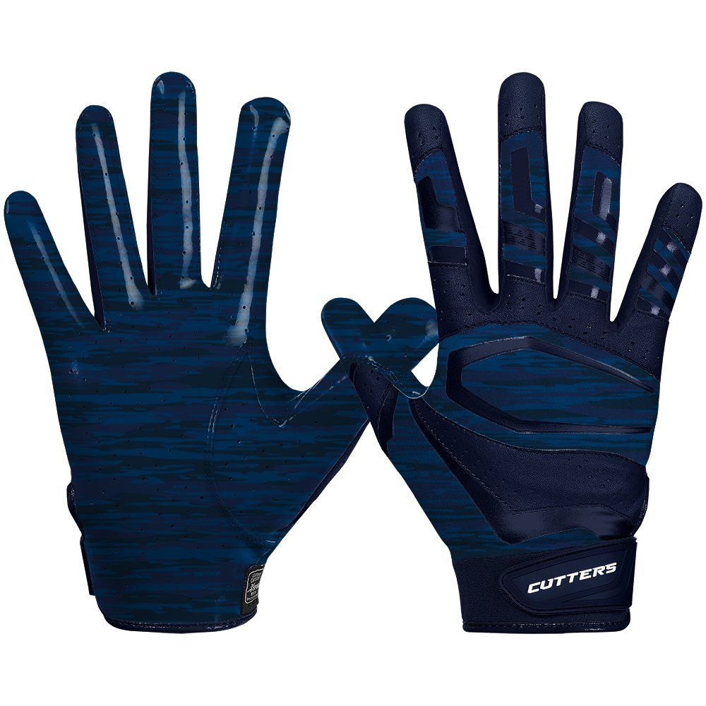 Cutters Gloves Rev Pro 3.0 Receiver Phantom Gloves, Navy Camo, Medium by Cutters (Image #1)