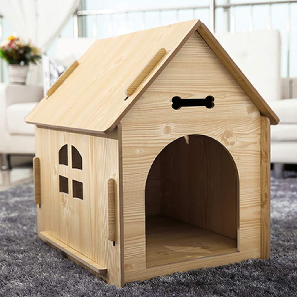 Casa de mascotas, casa para Perros pequeña y Mediana, casa de Madera, Interior para Exteriores, Gruesa y Duradera, Transpirable, protección del Medio ...