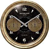 "Trademark Time Co. Chronograph Black Clock 23"""