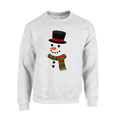 Allntrends Adult Crewneck Snowman Ugly Christmas Xmas Cool Holiday Top