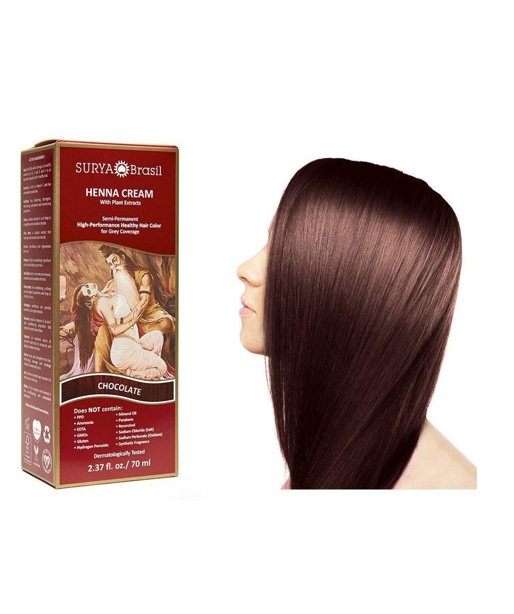 Surya Brasil Products Henna Cream, Chocolate, 2.37 Fluid Ounce by Surya Brasil Products