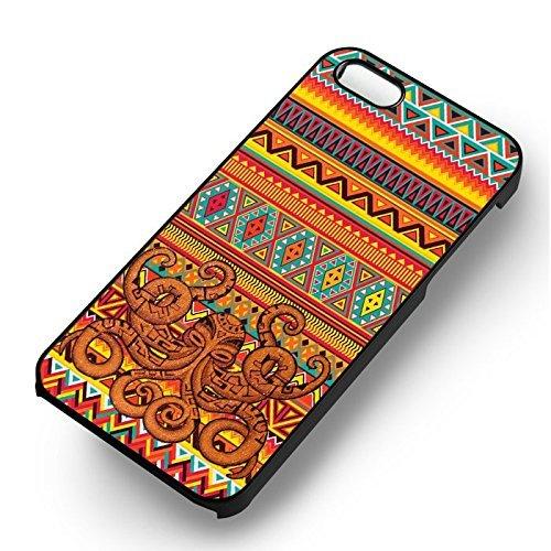 Octopus Aztec pour Coque Iphone 6 et Coque Iphone 6s Case (Noir Boîtier en plastique dur) D8O3RQ