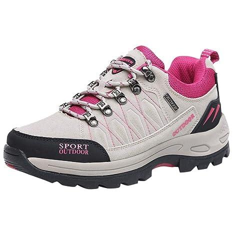 Logobeing Seguridad La Zapatilla Mujer Hombre Antideslizante Walker Senderismo Correr Deporte Zapatillas de Deporte Zapatos de Dedo del Pie Aire Libre y Deporte (36,Gris): Amazon.es: Equipaje
