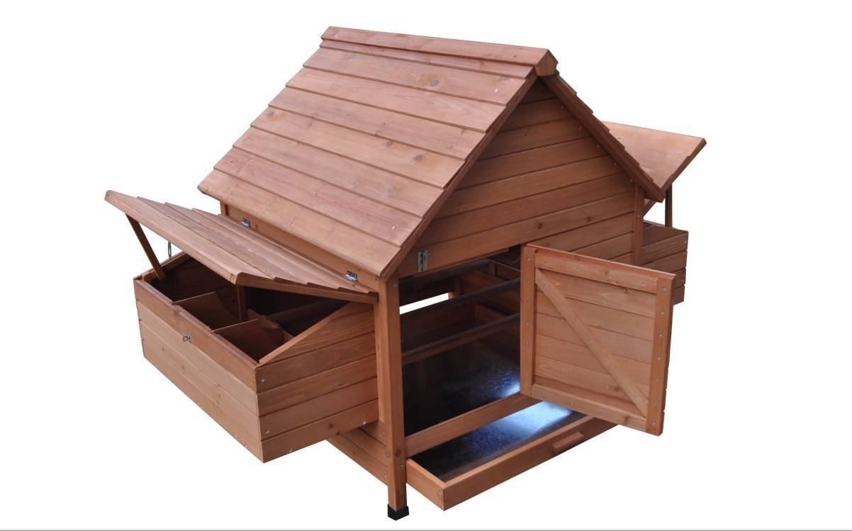 Ardinbir 62'' Deluxe Huge Solid Wood Chicken Coop / Hen House Duck Poultry Rabbit Hutch Cage with 6 Nesting boxes by Ardinbir (Image #6)