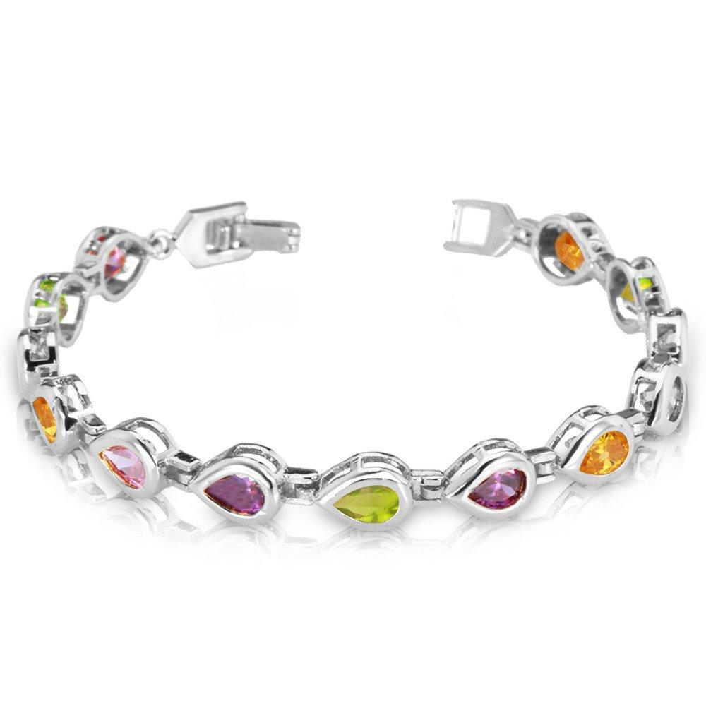 Colorful Cubic Zirconia Bangle Crystal 18K Gold/Platinum Plated Bracelet U7 Jewelry U7 H401K