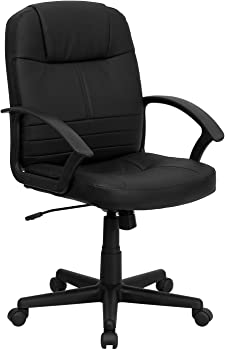 Flash Furniture Mid Back Leather Executive Office Chair