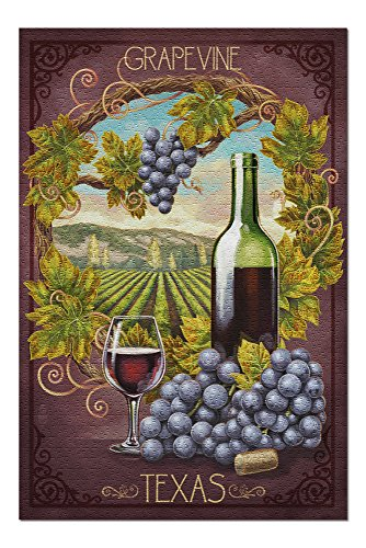 - Grapevine,Texas - Merlot (20x30 Premium 1000 Piece Jigsaw Puzzle, Made in USA!)