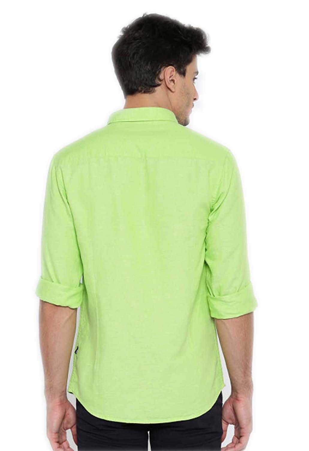 6b495f3b2ca5 SSB Men's Cotton Solid Light Green Casual Shirts XL: Amazon.in: Clothing &  Accessories