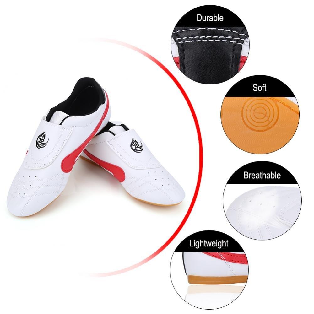 Dilwe Zapatos de Taekwondo Cuero de PU Zapatillas de Gimnasio de ...