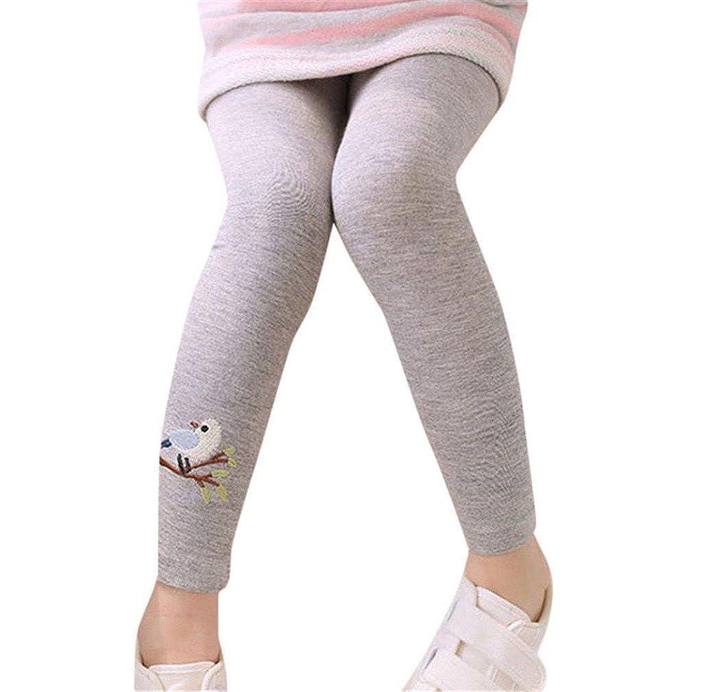 morecome Kids Leggings Toddler Girls Cute Bird Print Skinny Pencil Pants