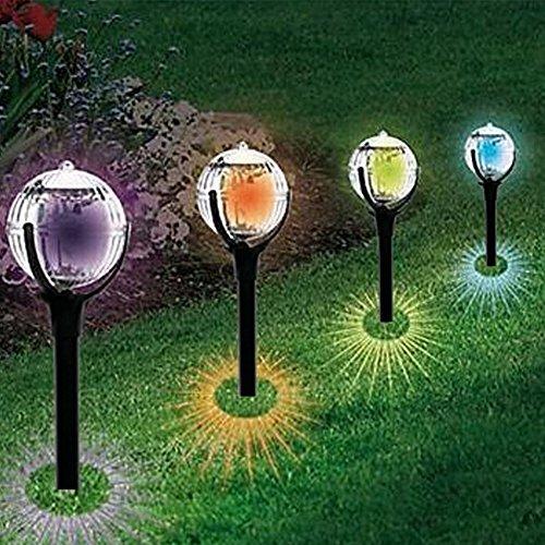 Lampes solaires de jardin, sans fil à changement de couleur Résiste ...