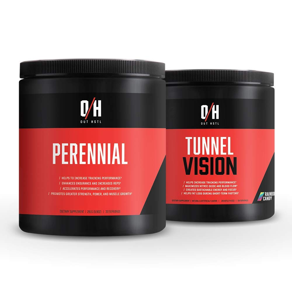 outHSTL | Tunnel Vision + Perennial Stack | Pre-Workout Complex | Maximizes Nitric Oxide and Blood Flow | Trademark Ingredients That Helps to Increase Training Performance
