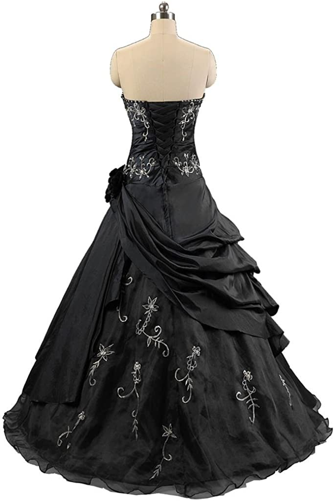 Kmformals Robe de Bal Robe de soirée Formelle Vintage Noir