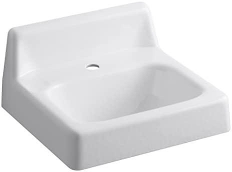KOHLER K 2812 0 Hudson Wall Mount Bathroom Sink With Single Hole