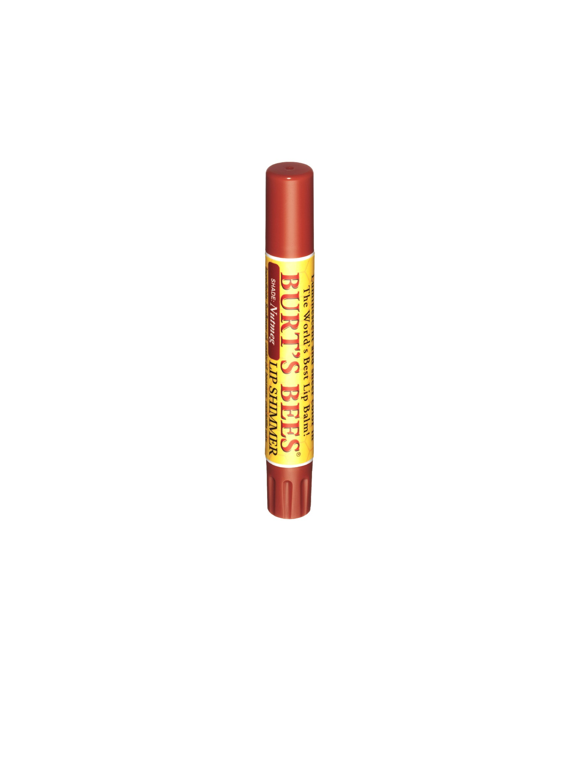 Burt's Bees Lip Shimmer, Nutmeg, .09-Ounce Tubes (Pack of 4)