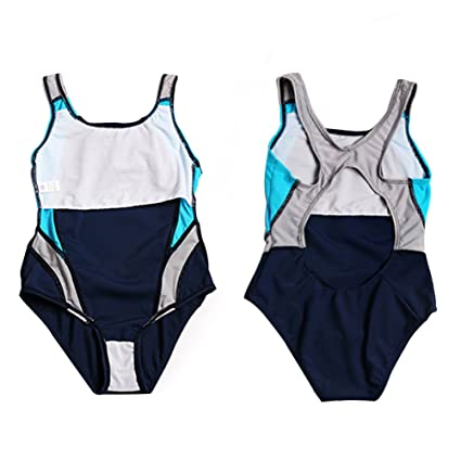 066ef0a1831cc Zerlar Girls One-Piece Swimwear Sports Racer Back Swimsuits Bathing Suit:  Amazon.co.uk: Sports & Outdoors