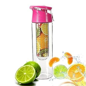 Itemer Wasserflasche Mit Filter Einsatz 800 Ml Zitronensaft Fruit