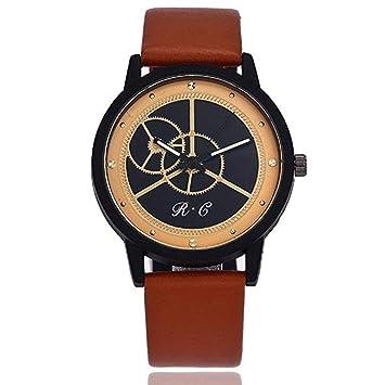 Scpink Reloj para Hombres, Reloj Clásico De Negocios de Cuero de Moda Retro Casual Acero Inoxidable Esfera Redonda Reloj de Cuarzo con Personalidad ...