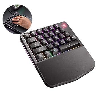 Free Wolf K11 K108 Teclado para Gaming Teclado Mecánico de una Sola Mano para PU Mobile Game Left Hand Small Keyboard: Amazon.es: Deportes y aire libre