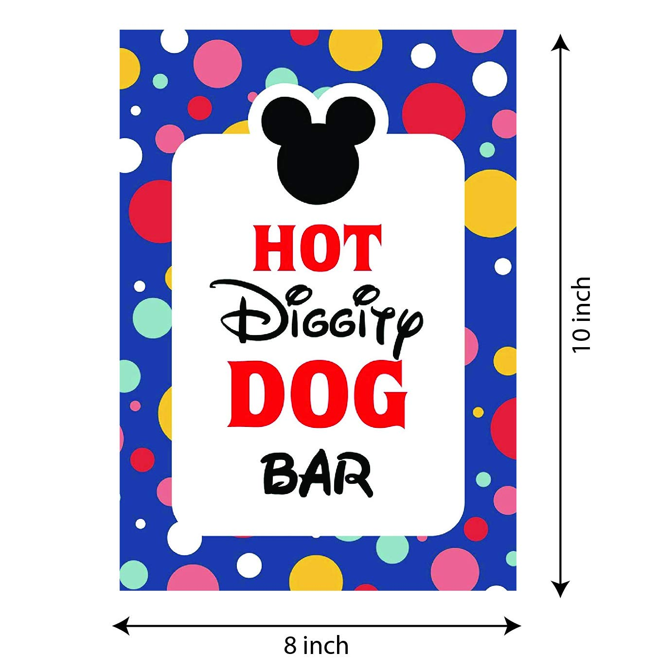 picture relating to Hot Diggity Dog Bar Free Printable named Mickey Mouse Social gathering components Mickey Mouse Clubhouse motivated Doorway Signal  Incredibly hot Diggity Puppy Bar Celebration Signal - 8 x 10 measurement - Published in just Card Inventory