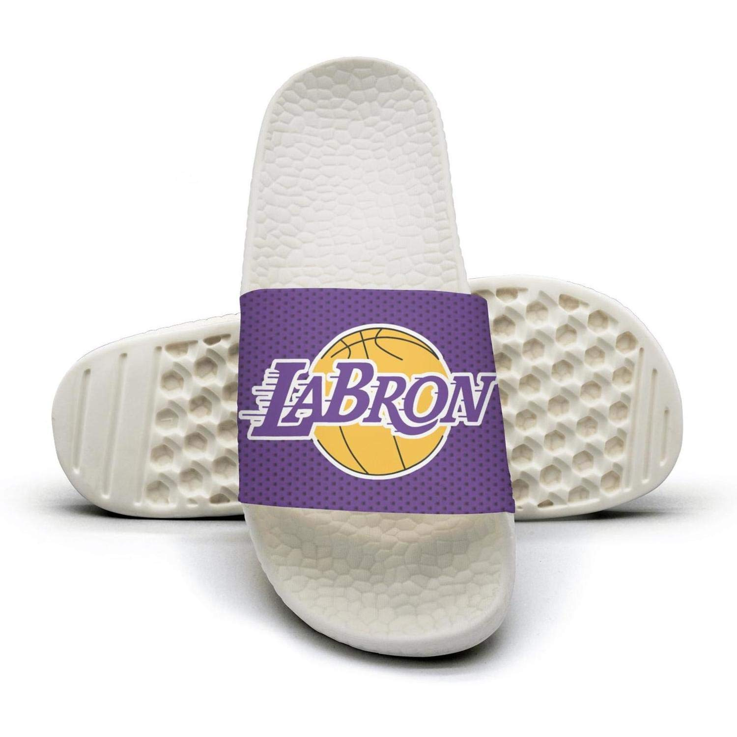 ADIDII Mens Printed Non-Slip Slipper Slide flip Flop Sandals La/_Bron/_Yellow/_Logo/_Basketball Summer Fashion