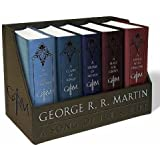 George RR Martin A Game of Thrones Leather Boxed Set Song of Ice and Fire Series-(2015, Paperback)