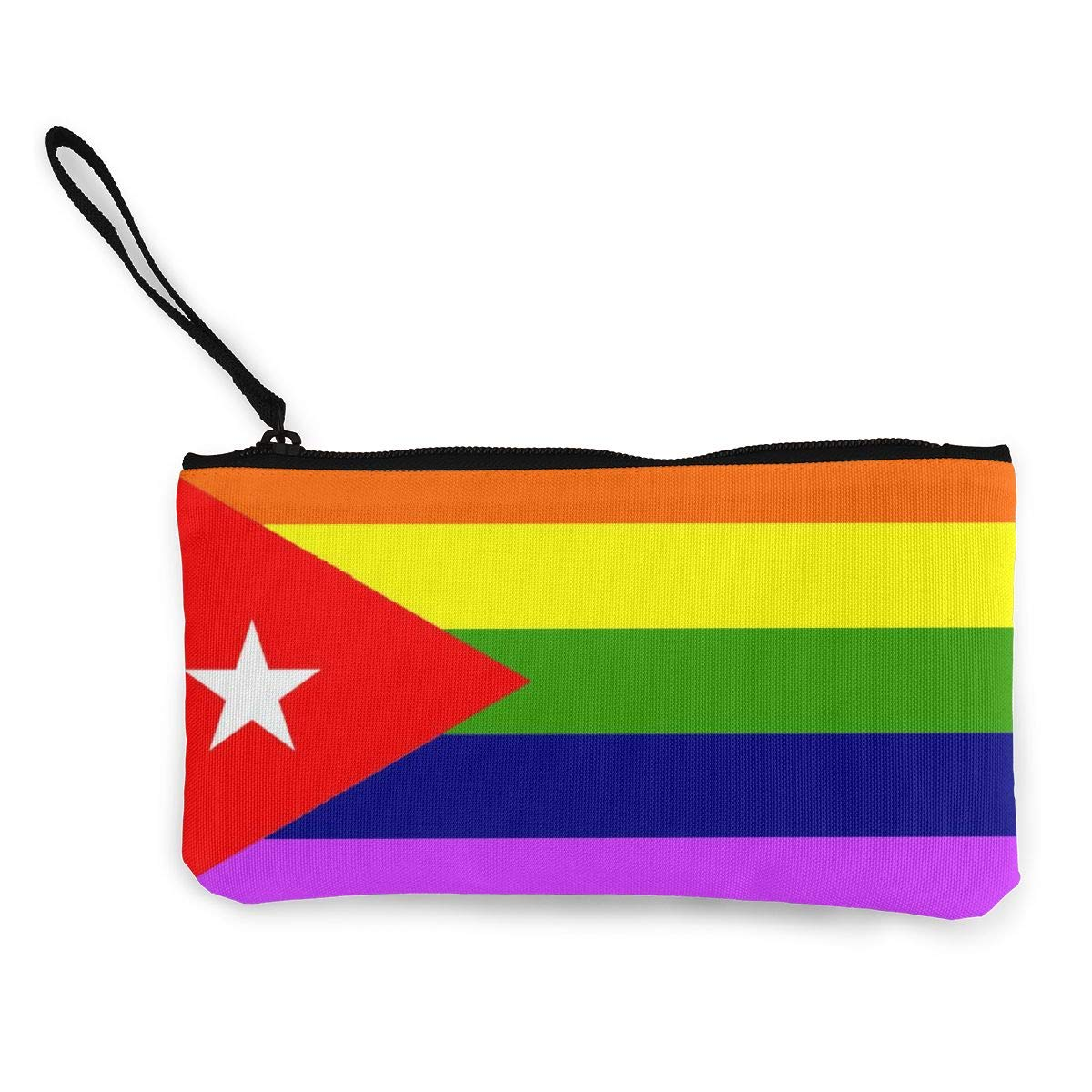 Maple Memories LGBT Gay Pride Flag Of Cuba Portable Canvas Coin Purse Change Purse Pouch Mini Wallet Gifts For Women Girls