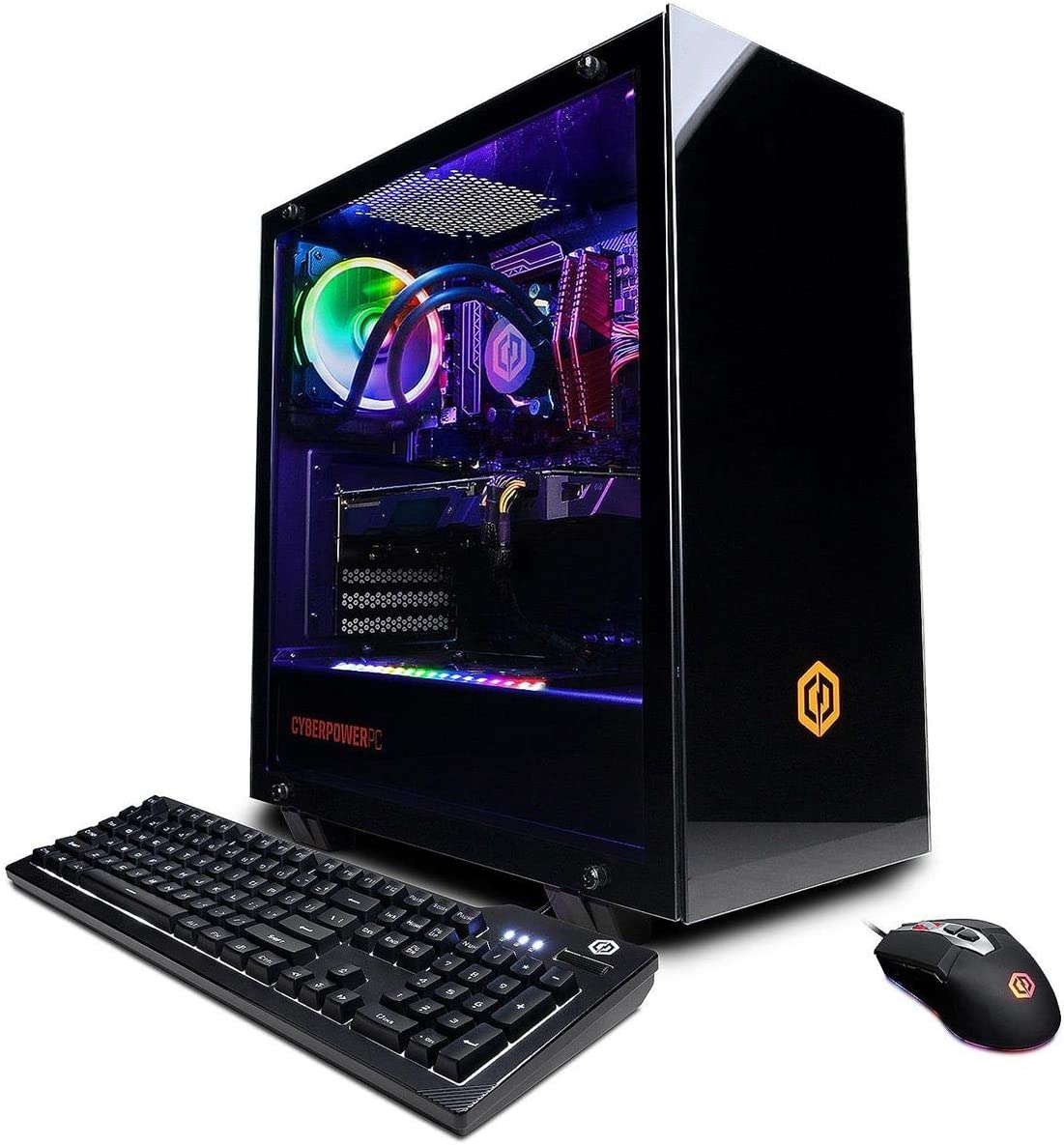 CyberpowerPC Gamer Supreme Liquid Cool Gaming Desktop Computer, AMD Ryzen 7 3700X 3.6GHz, 16GB RAM, 240GB SSD + 2TB HDD, AMD Radeon RX 5500 XT 8GB, Windows 10 Home